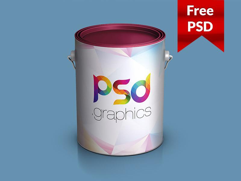 013bc0f0d852733d2494a7d792970829 - Paint Bucket Mockup Free PSD