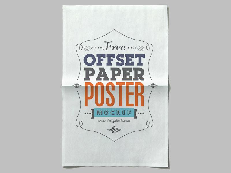 0649df6faa7bcb4d8dd4b9785f1dad4d - Free Offset Paper Poster Mockup PSD