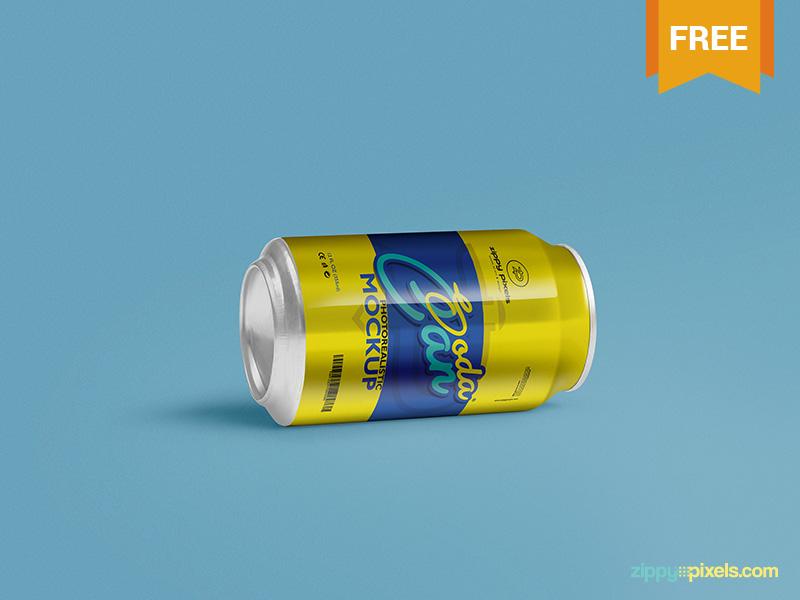 08d3d3cf4f9fb8d34a7b6573b25a55d0 - Free Soft Drink Can Mockup PSD