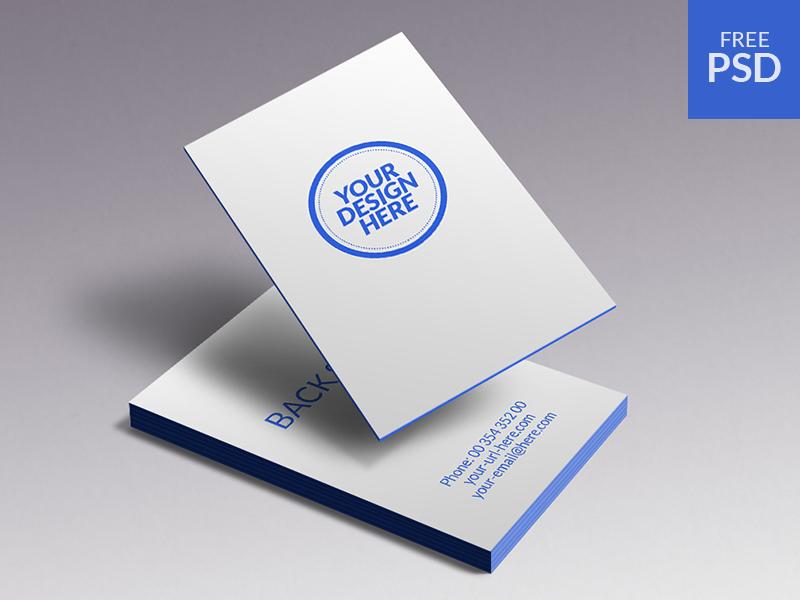 092845f5650b15011eca81407b35f1d3 - Business Cards Mockup - free psd