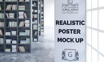 0a58d55dec403e22b993a72d440f6923 400x240 - Realistic poster mock up Free Psd