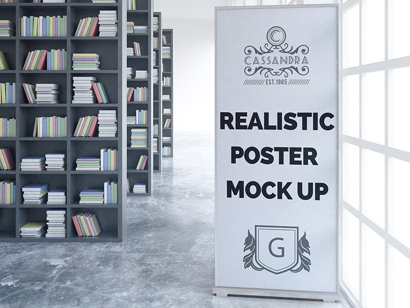 0a58d55dec403e22b993a72d440f6923 - Realistic poster mock up Free Psd
