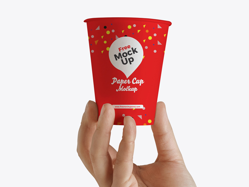 0b40c250eeee2bb637626e8fcf0e81bb - Free Hand Up Holding Paper Cup Mockup