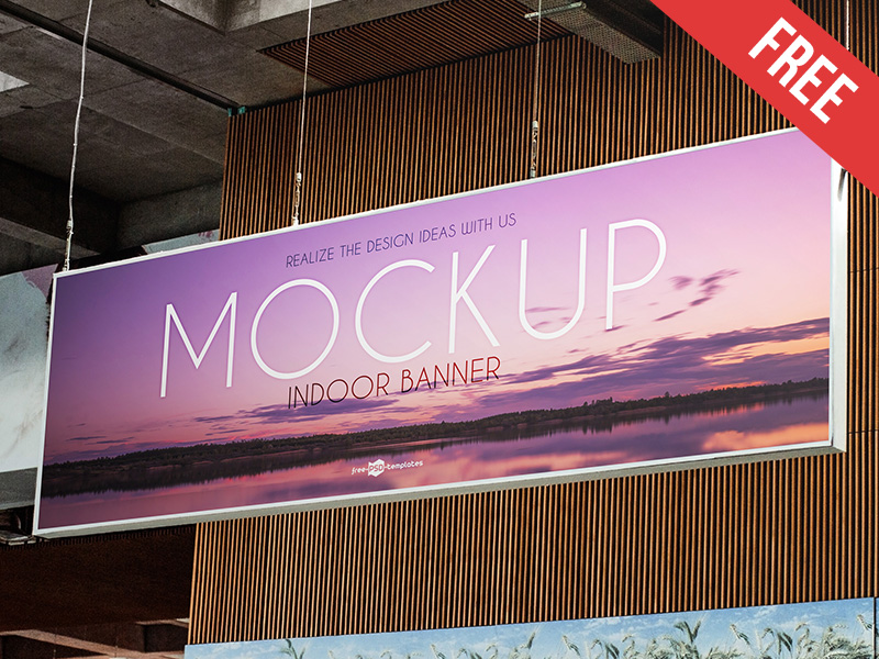 0c1df22f3c79c058367e3025d63cb213 - Free Indoor Banner Mock-up in PSD