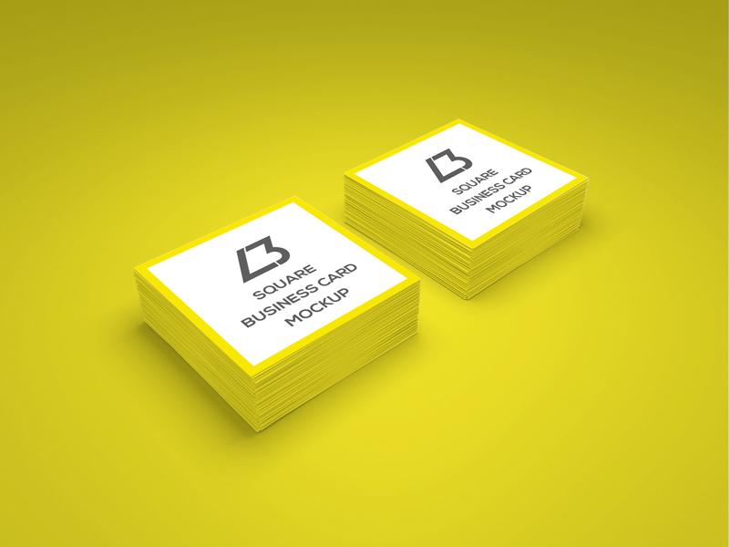 0cc6a394a0391079ca36ff20aba7ecff - Free Square Business Card PSD Mockup