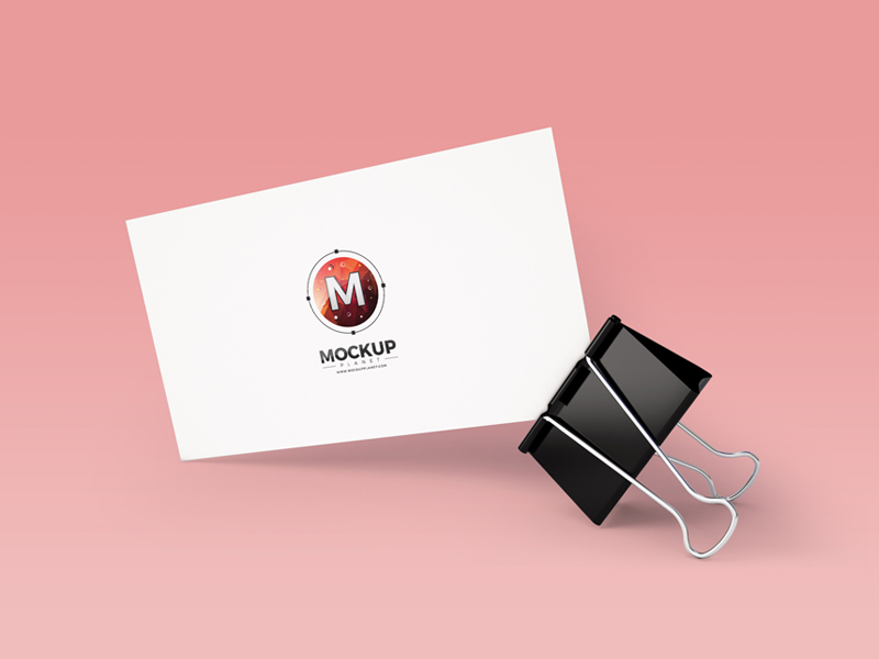 0f641a8409bd861766c09365dc5bc0f9 - Free Business Card With Clip Mockup PSD