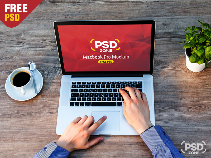10f87f8c2b99d4465b2130792fdbc479 - Man Working on Macbook Mockup Free PSD