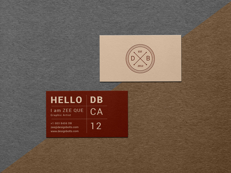 12e5834ce48d3bc67806cd1d0c623272 - Free Vintage Textured Business Card Mockup PSD