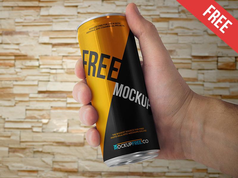 149812dbac8e2ee2f35b907199a63a61 - Energy Drink Can - 2 Free PSD Mockup