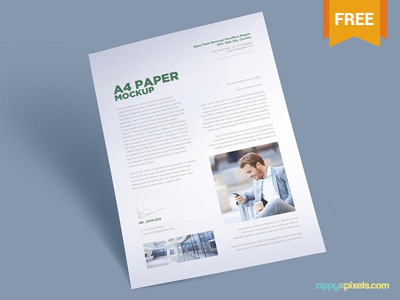 179264c3fe90a3fe3d3f8d8009f9a2c5 - Free A4 Paper Mockup Vol. 1