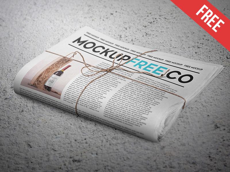 198c2b9dcb86c0306d5bab78a0d8b199 - Newspaper / Newsletter Free PSD Mockup