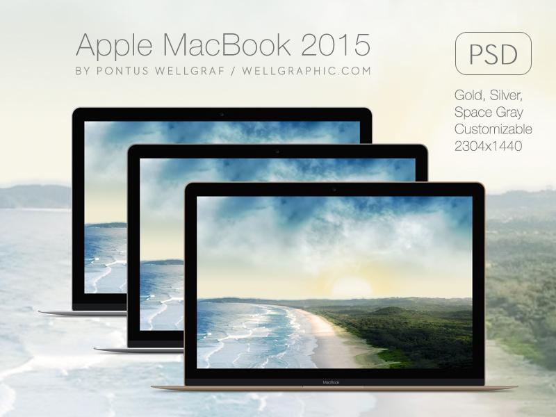 198d9f835dd5432e641e3bed1b96f87b - Apple Macbook 2015 Mockup PSD
