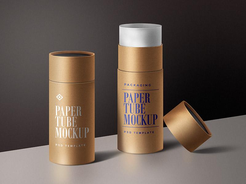 1a35fd995707b51d2ca6d0817d366737 - Paper Tube Mockup PSD