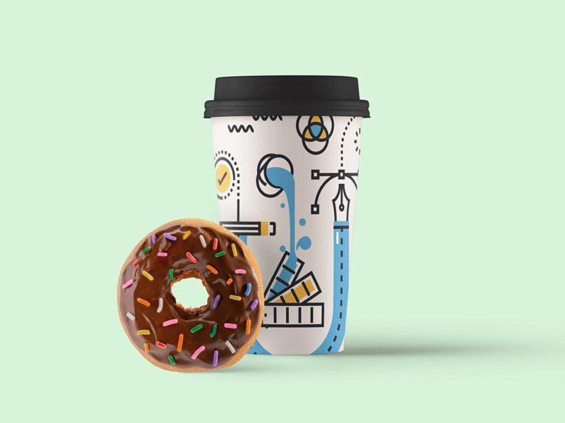 1af4b6ca4c18a754f4d76b88ed56a14a - Free Paper Coffee Cup Mockup PSD