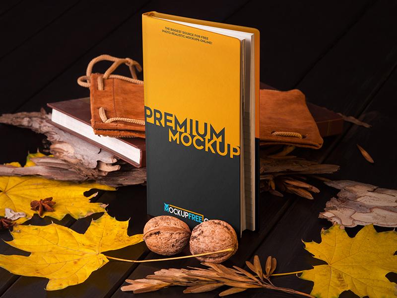 1d3b17bd09ba9dc984d232fb71fd14bd - Notebook in Autumn Scenery – 3 Free PSD Mockups
