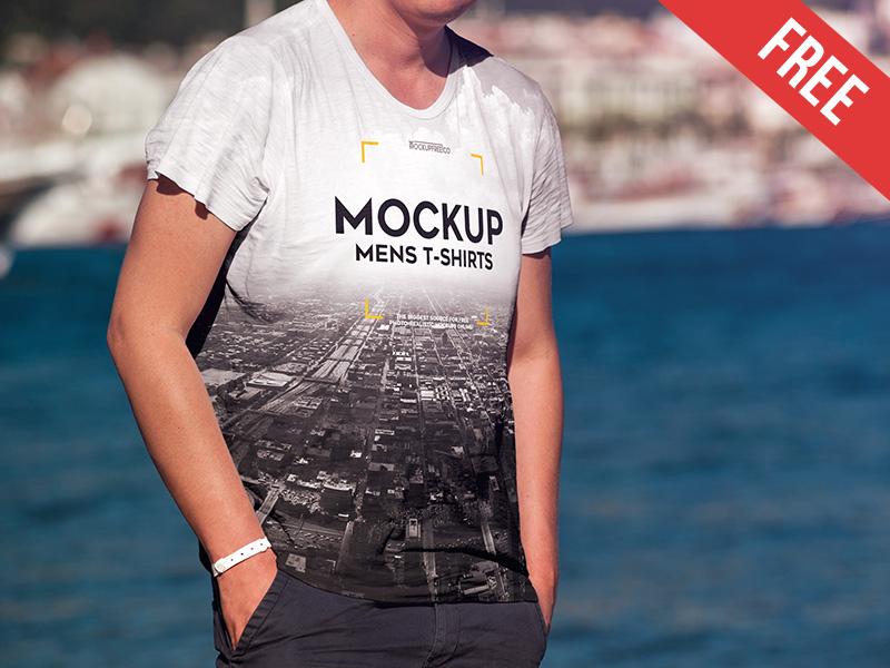 20004a036c00d264c38d39837535acd5 1 - Men's T-shirt – 2 Free PSD Mockups