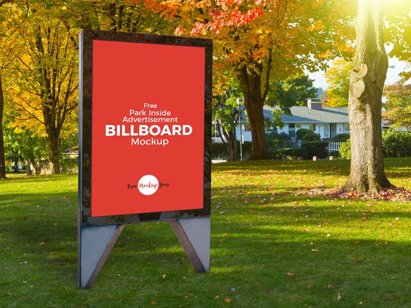 2042a193f3966615dede696dfd81e987 - Free Park Inside Advertisement Billboard Mockup PSD