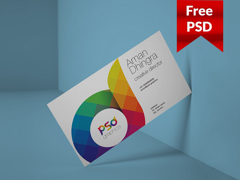 223cbdd0b2cd4bc5dc7e288e43273f6e - Freebie: Clean Business Card Mockup Free PSD