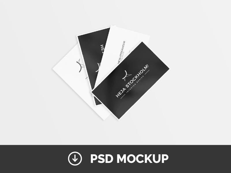 227a2790a68b14a6f1da0a4f2bf8c3db - 8 Free Clean Business Card Mockups | PSD