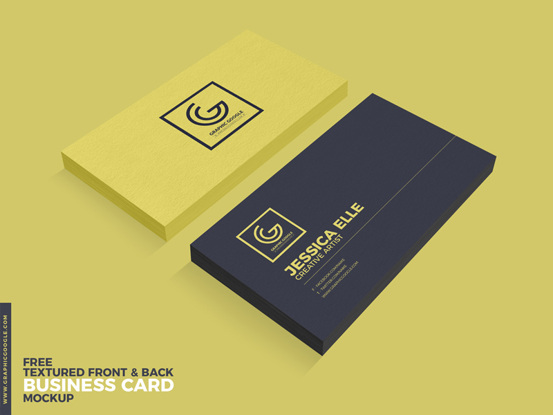 Free Textured Front Back Business Card Psd Mockup Bestmockup