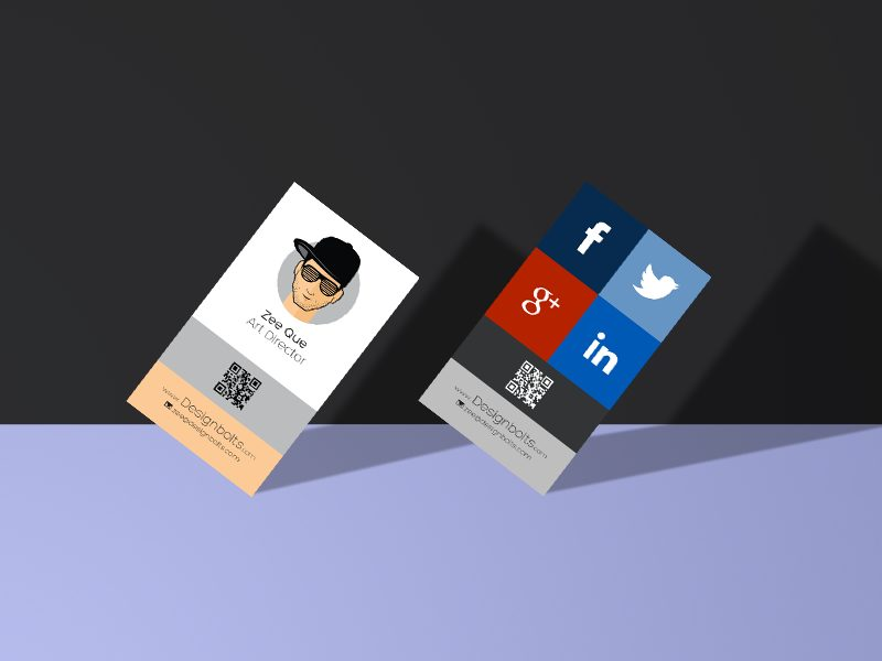 2ac13676b45417e4e8f11f482cf0307d - Free Vertical Business Card Design & Mockup PSD