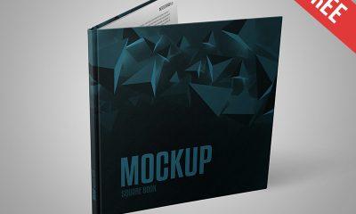 2bd6f827df3ab3c913474938c85873f8 400x240 - Square Book - Free PSD Mockup