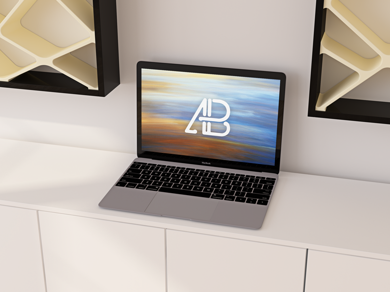 2c7292d7388108d611492f9b8c47bac4 - Realistic Apple  12-Inch Macbook Mockup