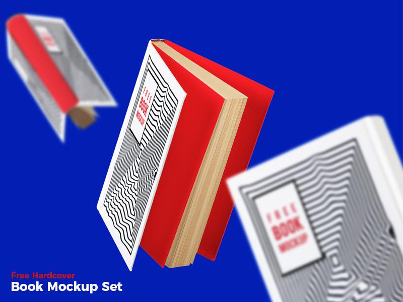 2d4cfe6ba5705eeab21d7e51866ddf98 - Free Hardcover Book Mockup Set