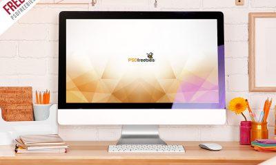 3187e0a0fee679b3079e57ac51f564b1 400x240 - Freebie : iMac Desktop Workspace Mockup Free PSD