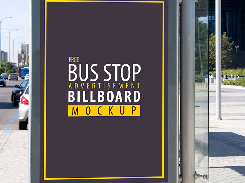 31e79acad6a0cbb2ca4d6ffd41bc8163 - Free Bus Stop Advertisement Billboard Psd Mockup