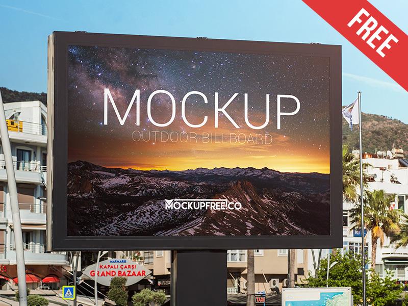 321e6025210019af0f0d958bab3a2751 - Outdoor Billboard – Free PSD Mockup