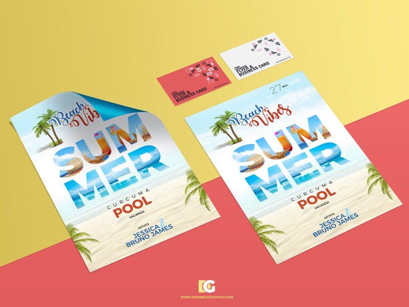 32eb4eb3c48781bea3db795cf7418e7c - Free Branding Flyer & Business Card Mockup PSD