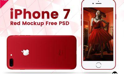 348bf8dbf7fa18c4b8b42154e3998d8b 400x240 - iPhone 7 Red Mockup Free PSD