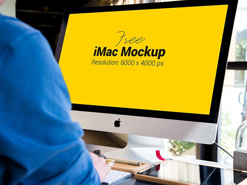 3576e2a3e6cac21b28f50e3186385f2a - Free Apple Imac Photo Mockup PSD