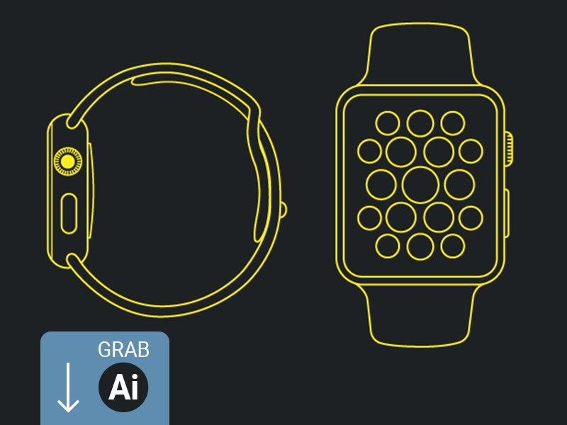 384686908bea6cff053803cdcac7320e - Apple Watch - Line Mockup