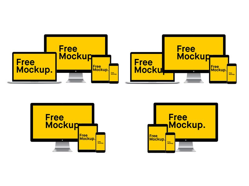 388bdff0f7b80aee034edd28433af4b1 - Free Responsive Apple Device Mockup Pack