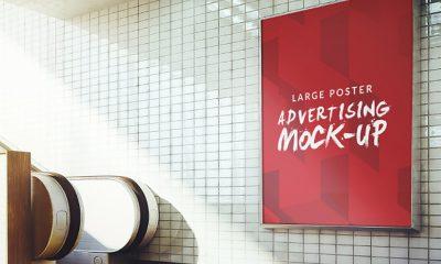 39094acac7cb7f3adfeb15e82dde7f14 400x240 - Underground poster mock up design Free Psd