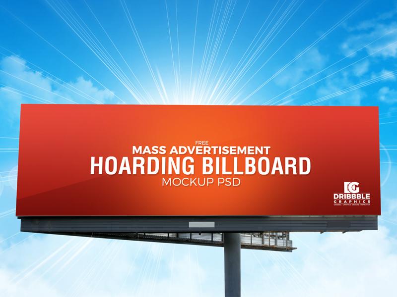 3a24684cef5052210ee44a236a4fc59d - Free Outdoor Mass Advertisement Hoarding Billboard Mockup PSD