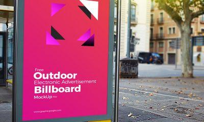 3b127837ac7e63f4efd9eb2cacc2c1ee 400x240 - Free Outdoor Electronic Advertisement Billboard Mockup PSD