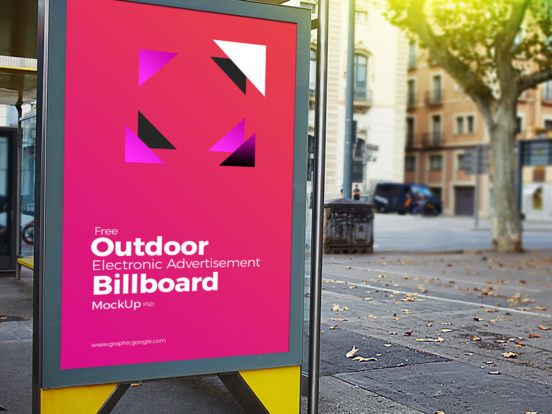 3b127837ac7e63f4efd9eb2cacc2c1ee - Free Outdoor Electronic Advertisement Billboard Mockup PSD