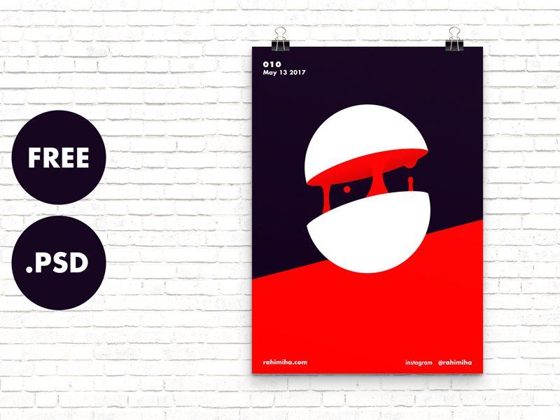 3c6c03dda3e48d656fbd6e07cfc71f37 - Free Minimal Poster Mockup [PSD]