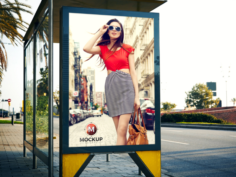 3ee4bc50922fb72393a70cad638acba7 - Outdoor Bus Stop Billboard Mockup For Advertisement