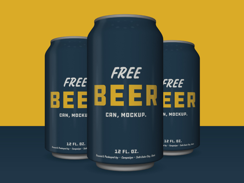 412ed7bd8443e651fd2a5ced72fc0448 - FREE BEER! ...can, mockup.