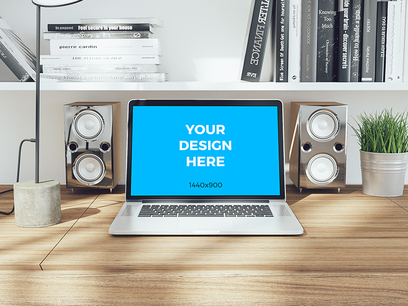 42227ae8a1af6250c4961efc9d0f8f0e - Free mockup - MacBook pro Retina on wooden table