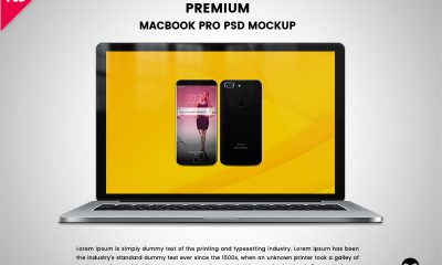 424eb86e8f49e1df5a5b23102918e320 400x240 - Download Premium Macbook Pro PSD Mockup