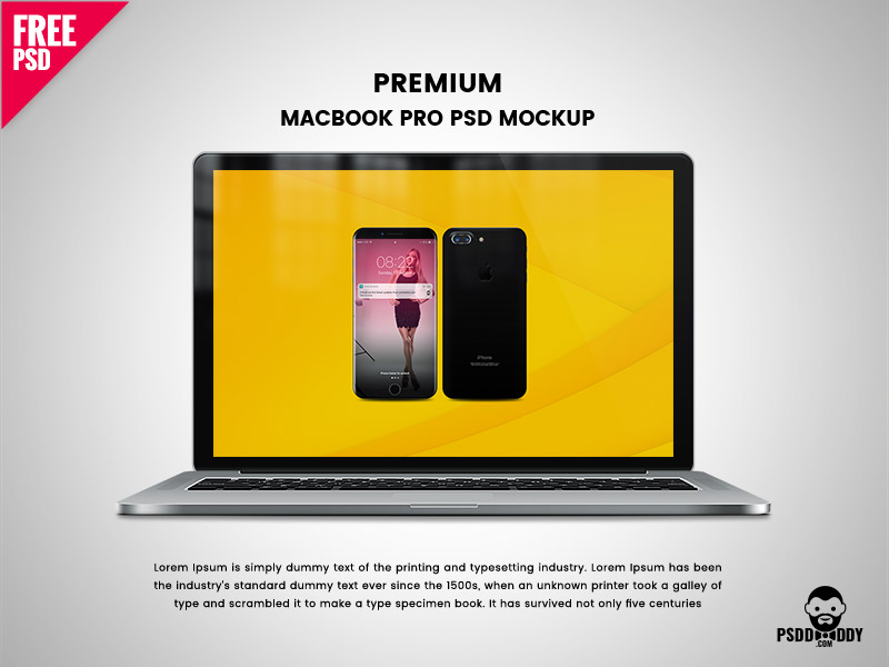 424eb86e8f49e1df5a5b23102918e320 - Download Premium Macbook Pro PSD Mockup