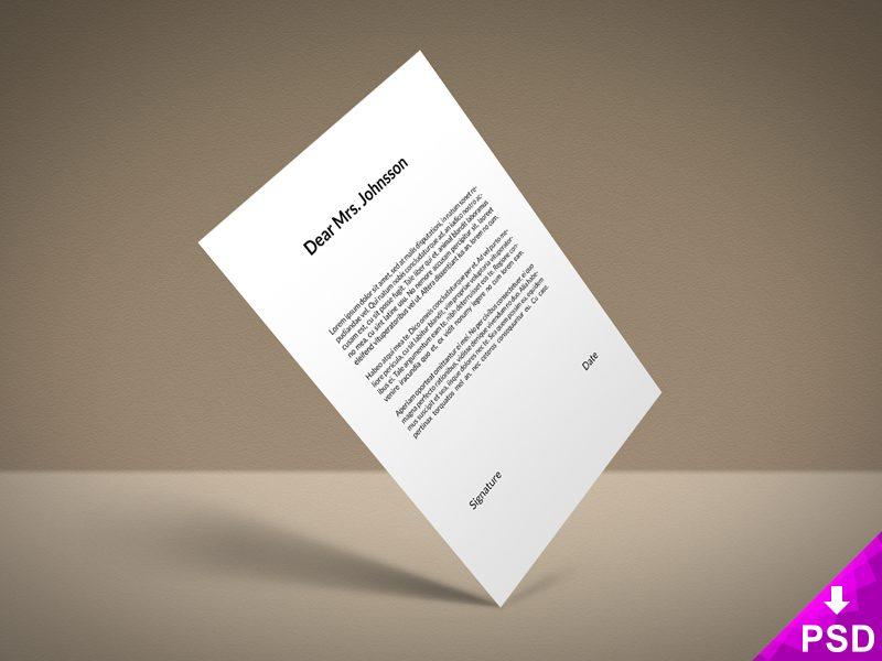 4402701fff76920bf1477c8b03d76425 - Standard Paper Mockup