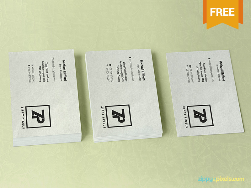 44f3e62dae9efbb11973b5bb08e77254 - Free Stacked Visiting Card Mockup