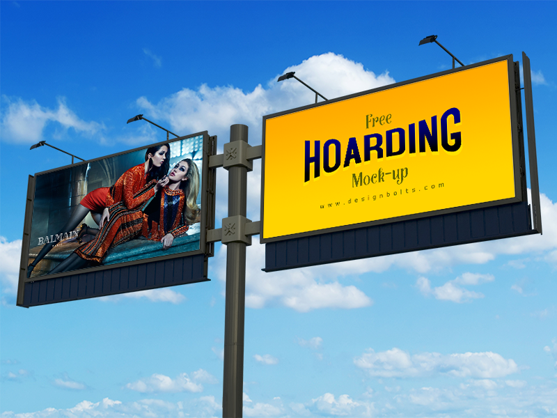 45032afff19a1ea97792283ee32fdcfb - Free Frontlit Outdoor Advertising Hoarding Mock-up PSD