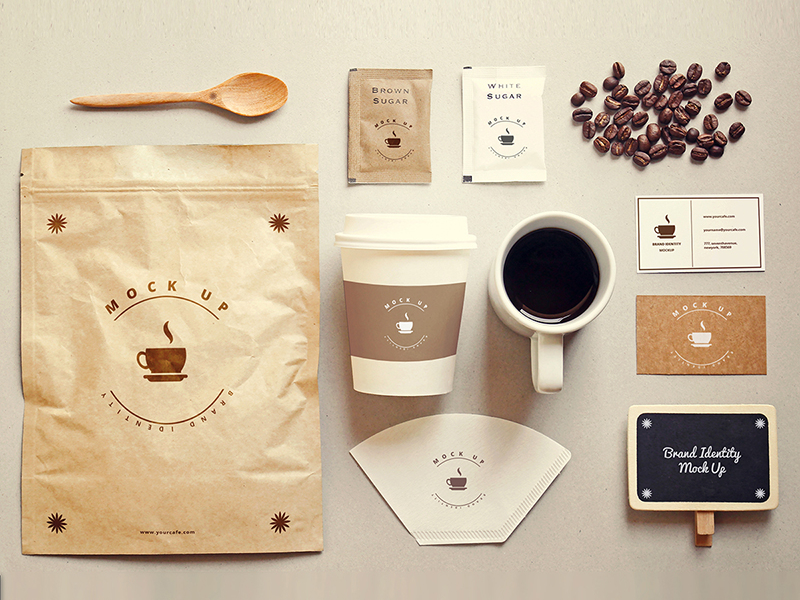 462ce8838c377eb9e9a3b28a831e5de0 - Coffee stationery mock up Free Psd